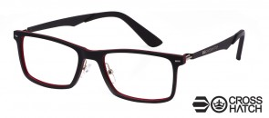 Crosshatch CRH-115 C3 Black/Red Glasses