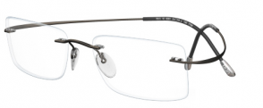 IWG Titanium Flex Gunmetal Rimless Glasses