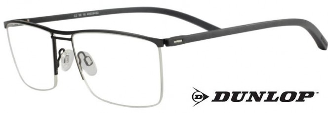 Dunlop D152-2 Gunmetal Glasses Semi-Rimmed Glasses