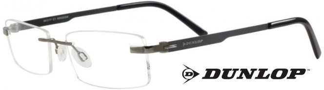 Dunlop D159-1 Gunmetal Black Titanium Rimless Glasses