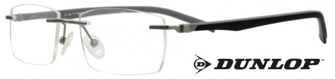Dunlop D167-1 Grey Rimless Glasses