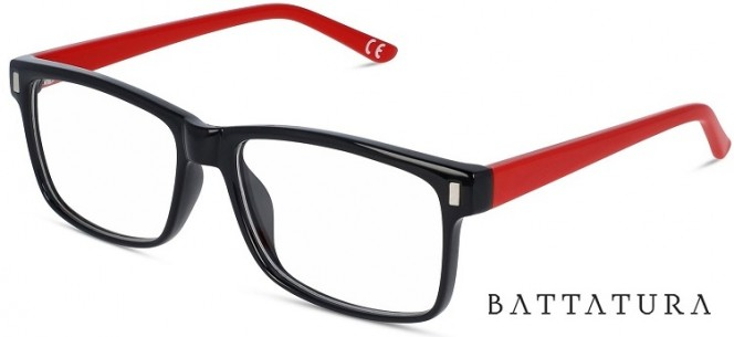 Battatura CP13 Calvin - Black Meets Red Glasses