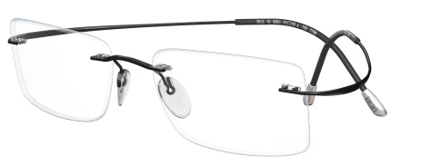 IWG Titanium Flex Black Rimless Glasses