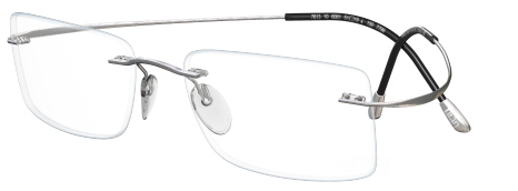 IWG Titanium Flex Silver Rimless Glasses