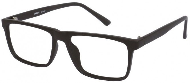 NewLenses Univo Base 90 C1 Matt Black Glasses