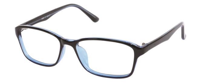 NewLenses Univo Base 92 C1 Shiny Black-Blue Glasses