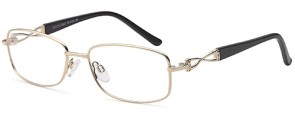 Carducci 7122 Gold Glasses