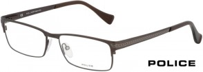Police V8785 08TR Black Brown Glasses