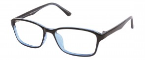 NewLenses Univo Base 92 C1 Shiny Black-Blue Glasses